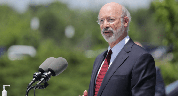 Gov. Wolf Visits UPMC Pinnacle Community Osteopathic, Thanks Staff, Discusses Required Mask-wearing Benefits