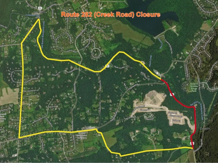 PennDOT to Begin Route 282 (Creek Road) Bridge Replacement in East Brandywine Township