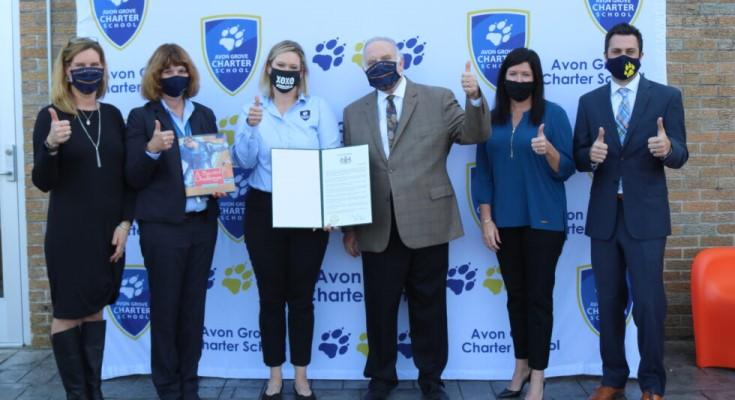 Dinniman Awards Citation to Avon Grove Charter School