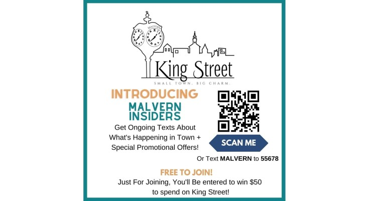 Malvern Business Professional Association Launches New Mobile Shop, Dine, Play Local Program