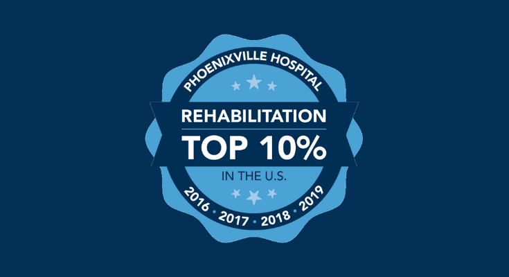 Phoenixville Hospital Recognized as One of the Top 10 Percent of Inpatient Rehabilitation Facilities in the United States