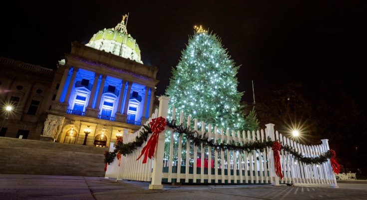 Governor Wolf Kicks Off Holidays With Capitol Christmas Tree Lighting