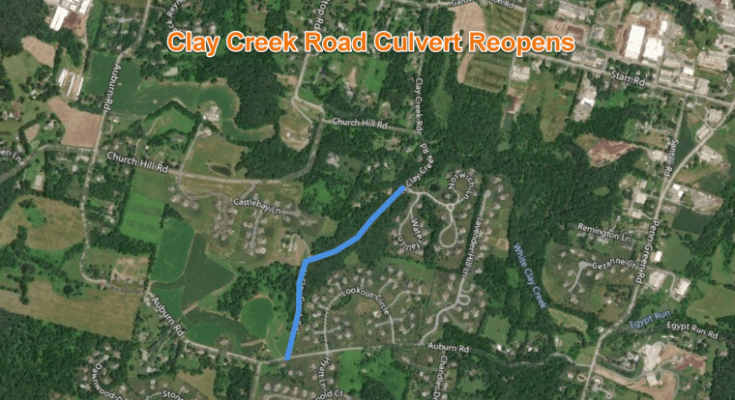 PennDOT Reopens Clay Creek Culvert in Franklin Township, Chester County
