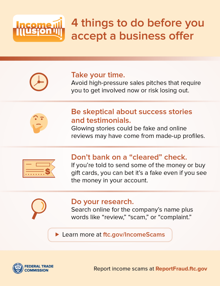 before accepting a business offer