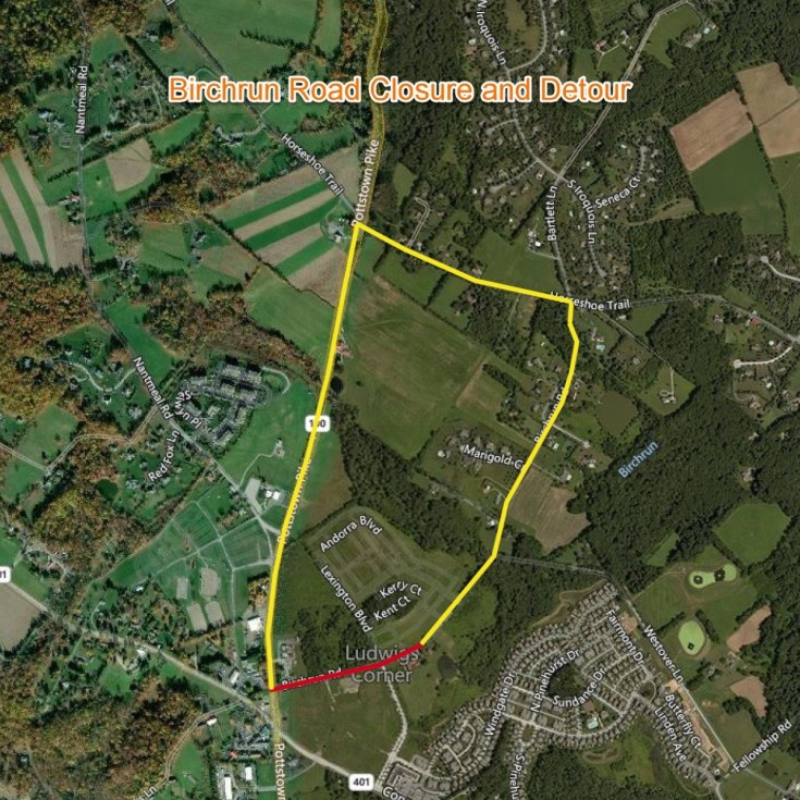 Aqua Pennsylvania to Close Birchrun Road Weekdays for Utility Installation in West Vincent Township