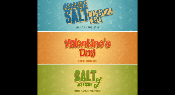 SALT Performing Arts, SHARING THE LOVE Starting this Satruday, January 16