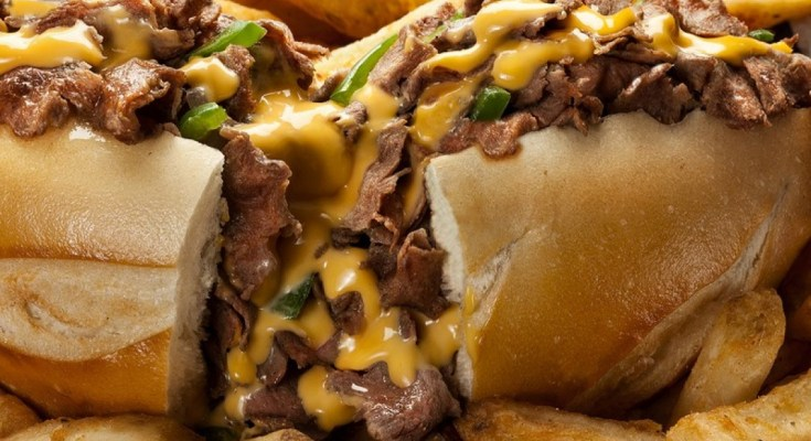 cheese steaks and fries