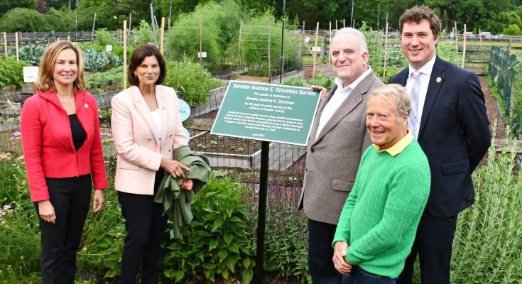 Senator Dinniman Garden dedication