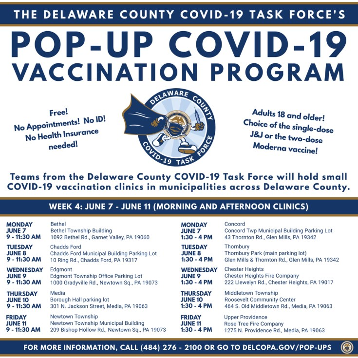 Delaware County COVID-19 Task Force's Pop-Up COVID-19 Vaccination Program
