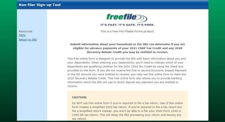 freefilefillableform childtaxcredit