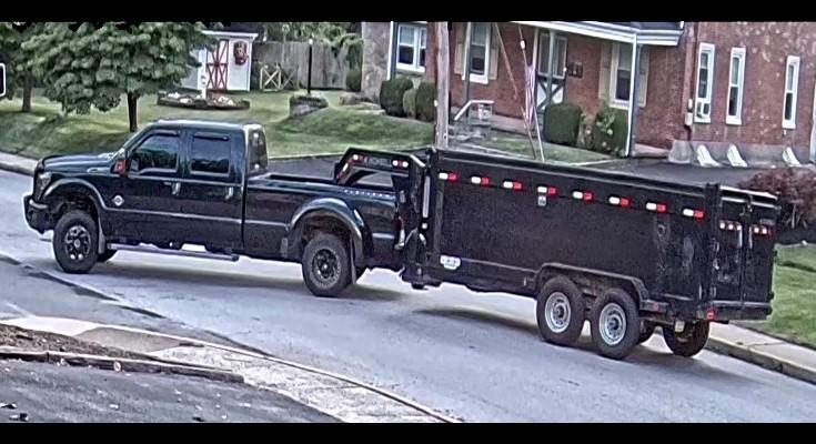 stolen truck and trailer
