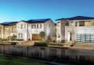 Toll Brothers model home street scene from Sierra at Plum Canyon