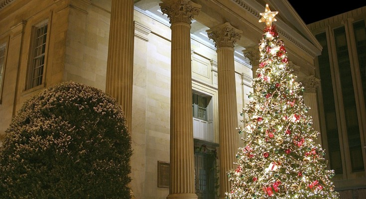 West Chester Courthouse at Christmas