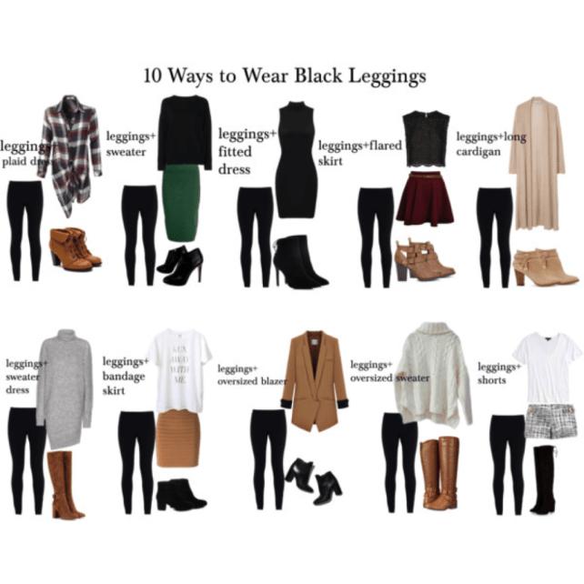 how to wear black leggings