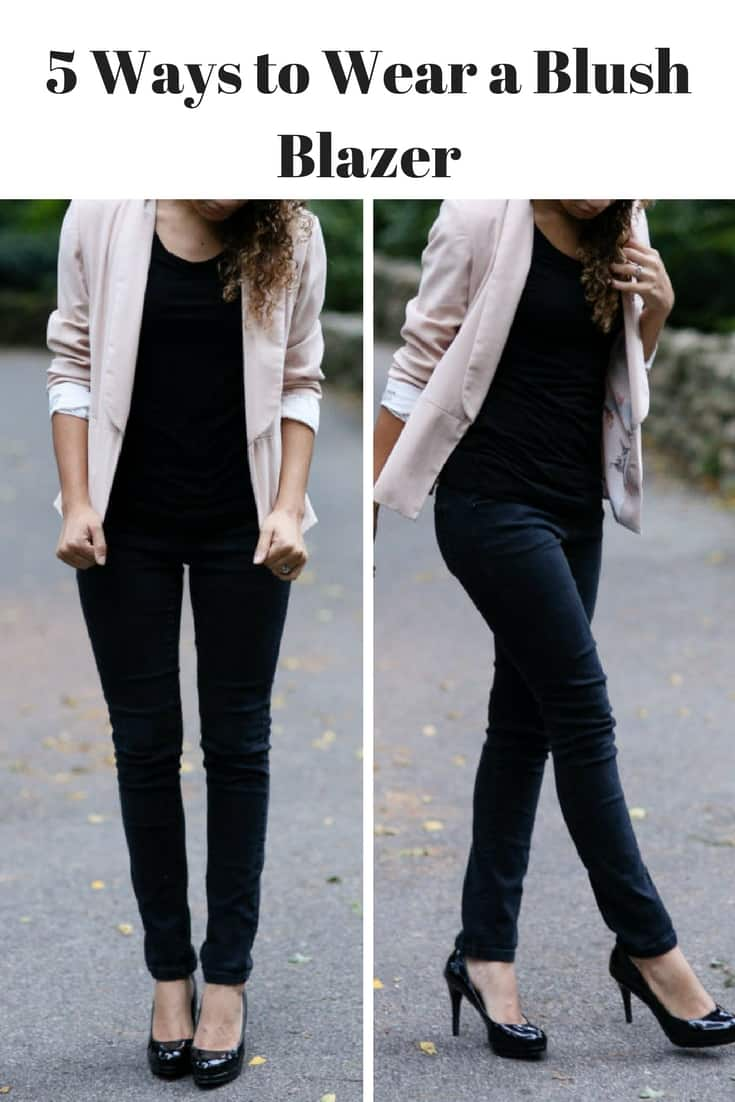 How To Wear A Light Pink Blazer Blush Blazer Outfit Ideas My Chic Obsession