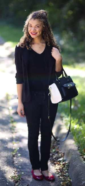 black blazer outfit