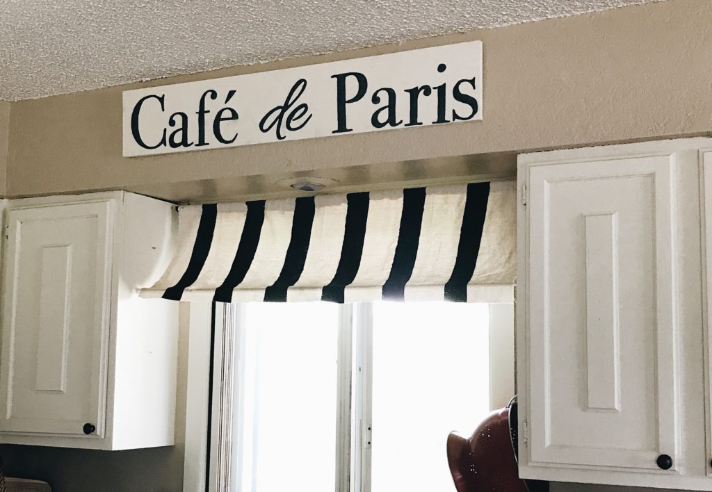 diy wood sign french kitchen