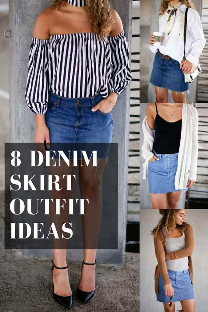 8 Ways to Wear a Denim Skirt | Spring Fashion Outfit Ideas - My Chic Obsession