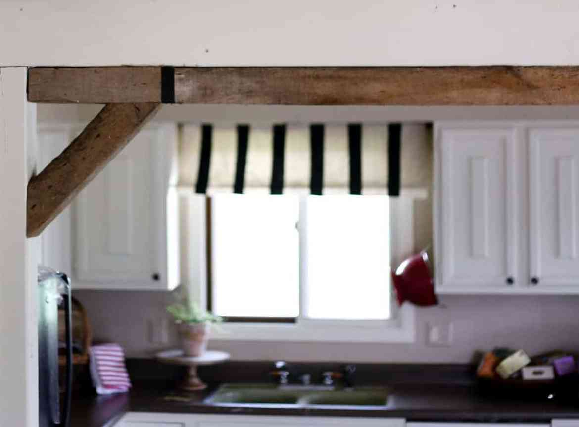 diy split level open wall beams