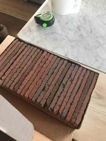 brick backsplash
