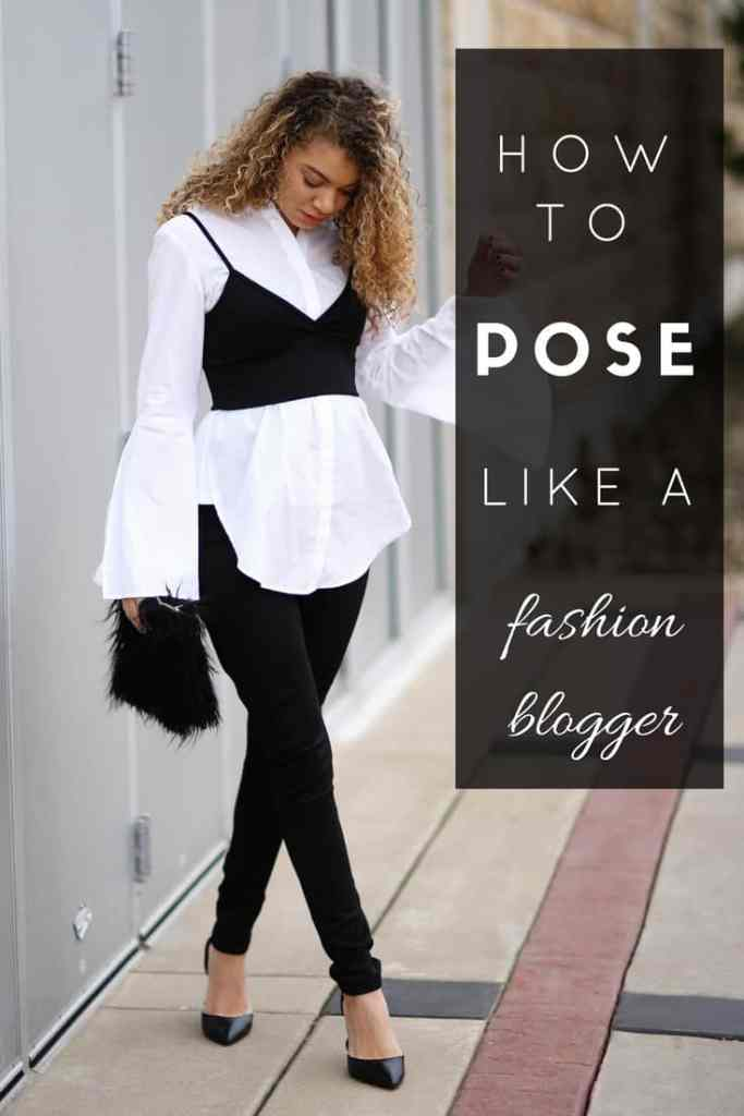 fashion blogger poses