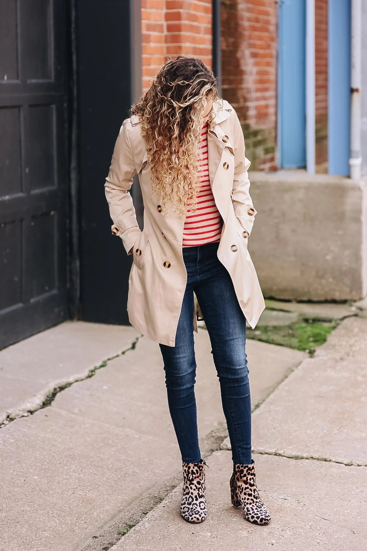 trench coat fall outfit