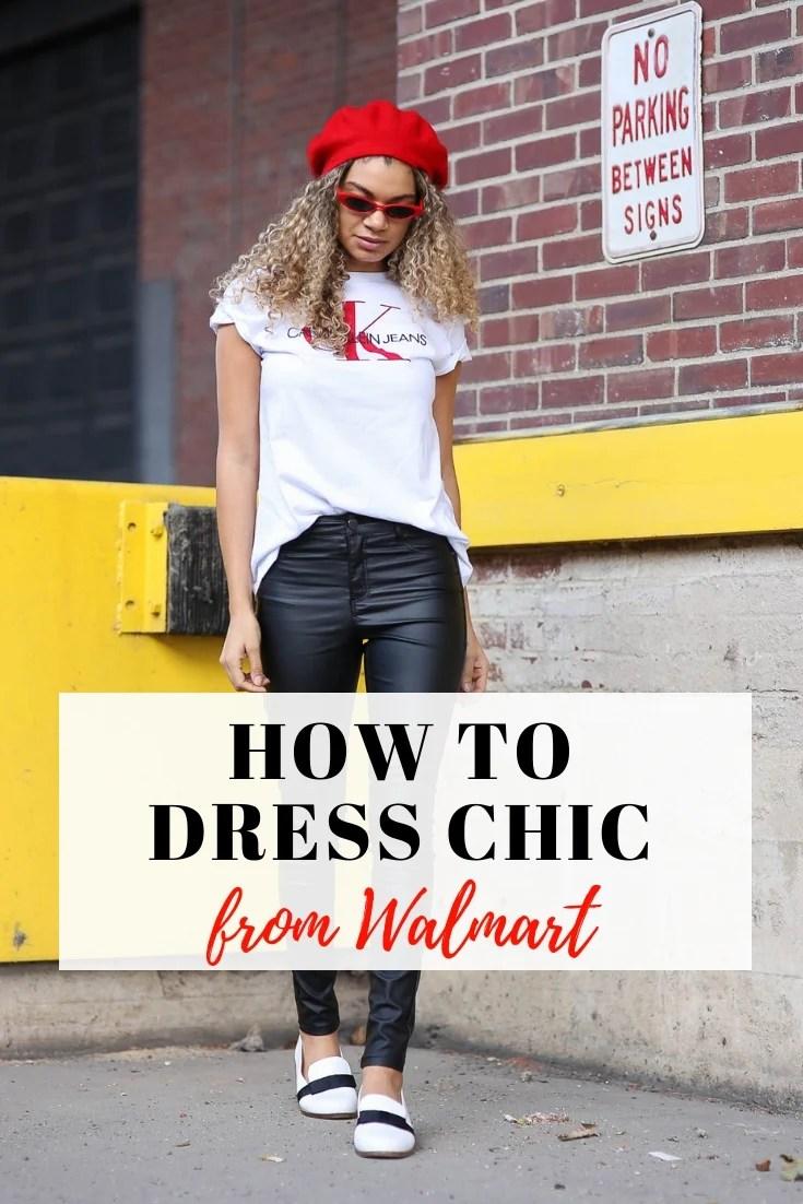 dress chic from walmart