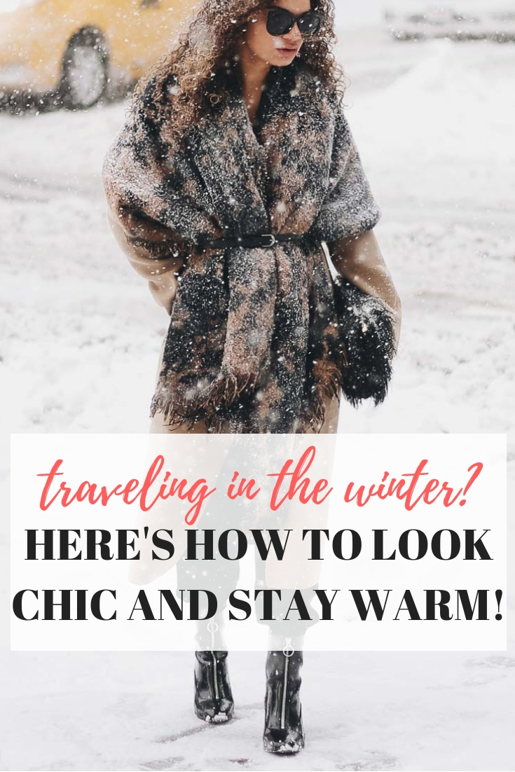 camel coat with a belted blanket scarf to complete your winter travel outfit!