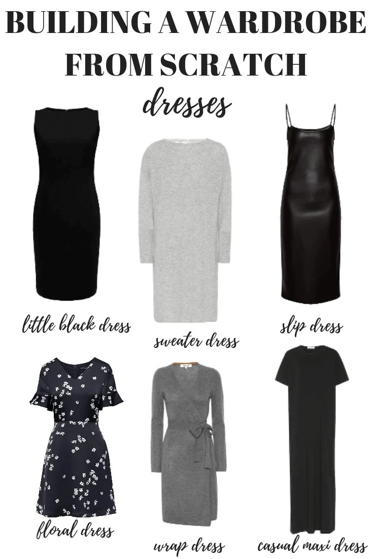 Here's how to build a wardrobe from scratch starting with your dresses. Your capsule minimalist wardrobe is just one step away!