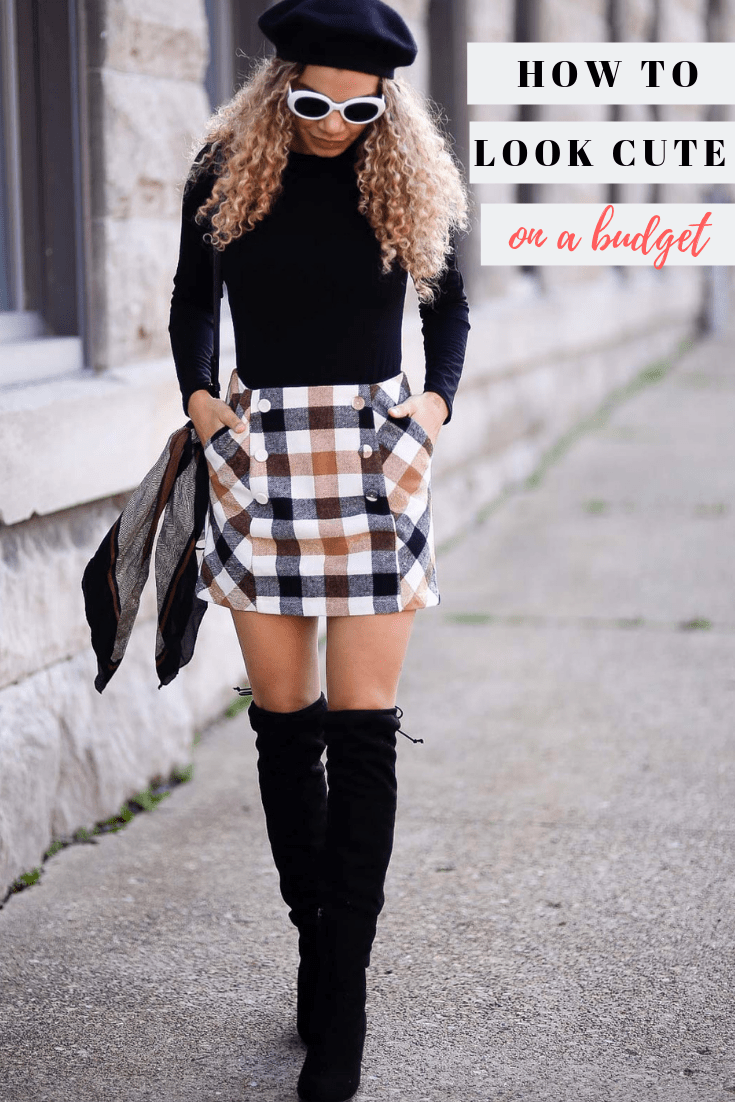 how to look cute on a budget