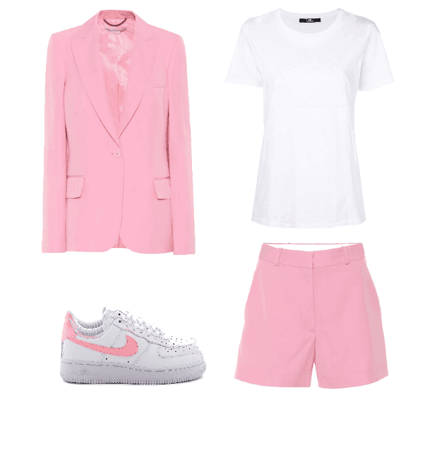 Want to know what the latest spring trends are and how to wear them? Here are spring outfit ideas on how to wear a pink suit set!