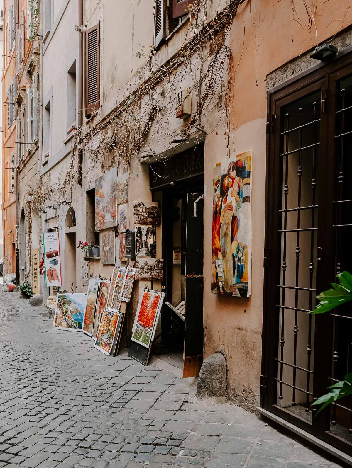 art in Rome, Italy