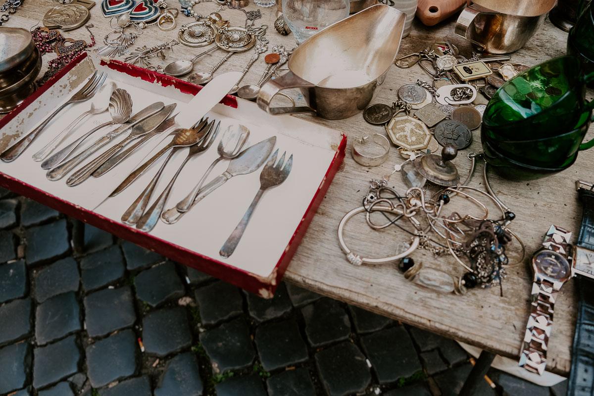 flea market in Rome, Italy