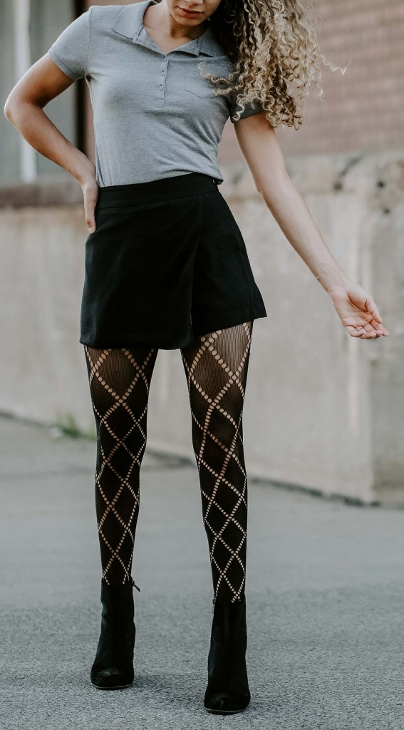 tights look fall back to school outfit