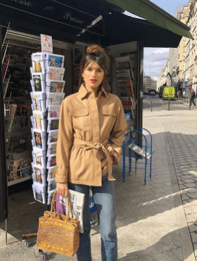 belted coat jeanne damas