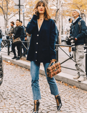 oversized coat french girl