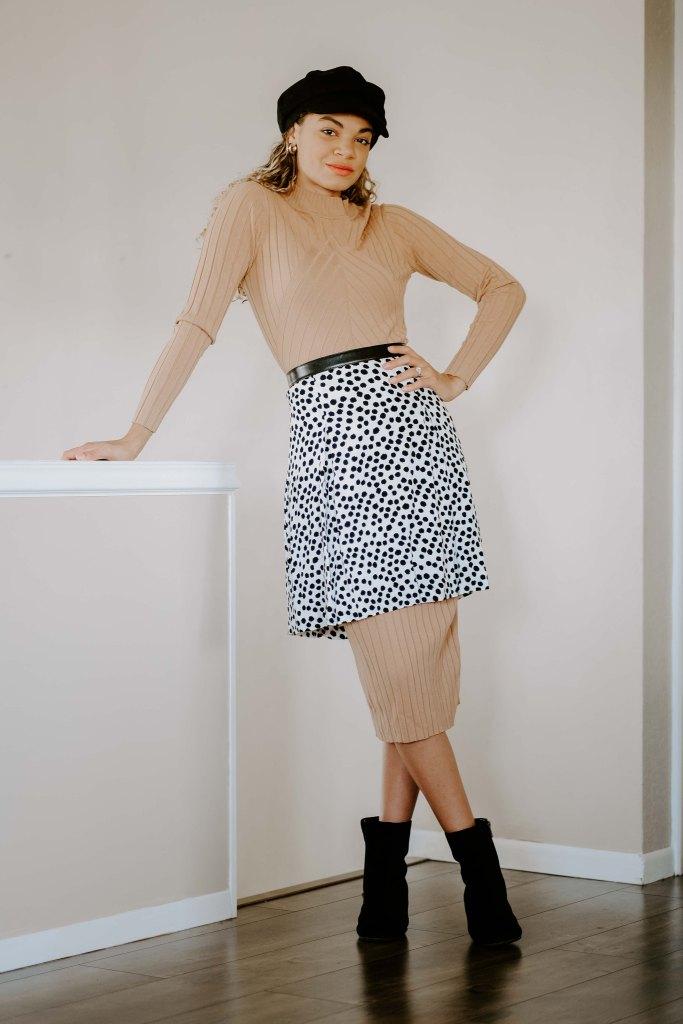 skirt worn over a dress