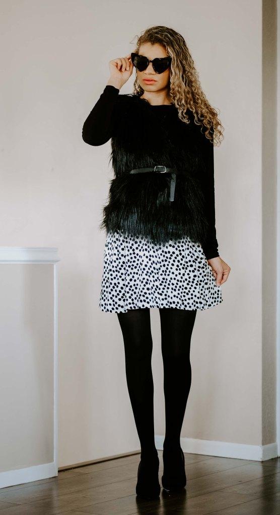dressy way to wear a skirt