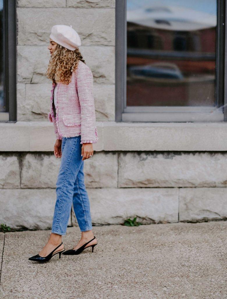 tweed blazer outfit