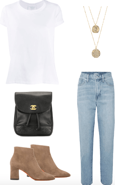white tee outfit
