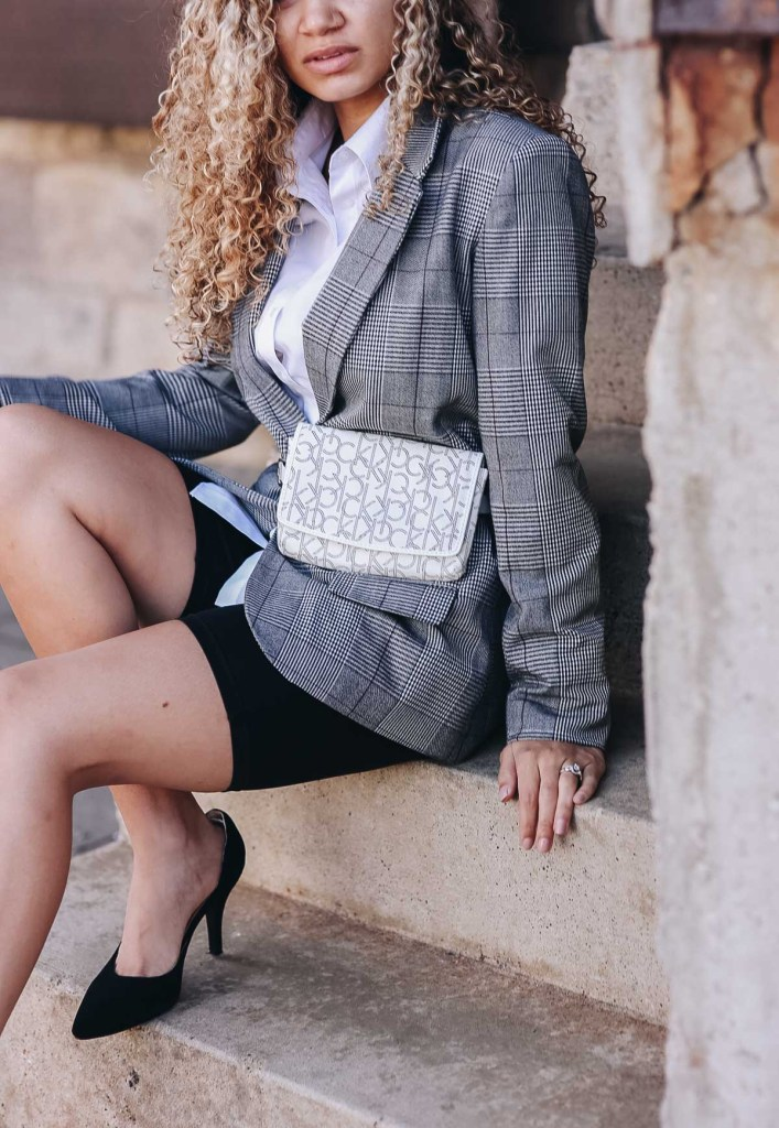 structured blazer outfit