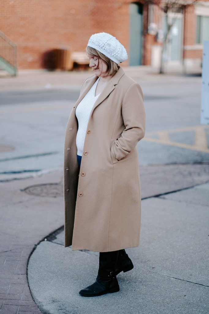 fashion over 50 camel coat outfit