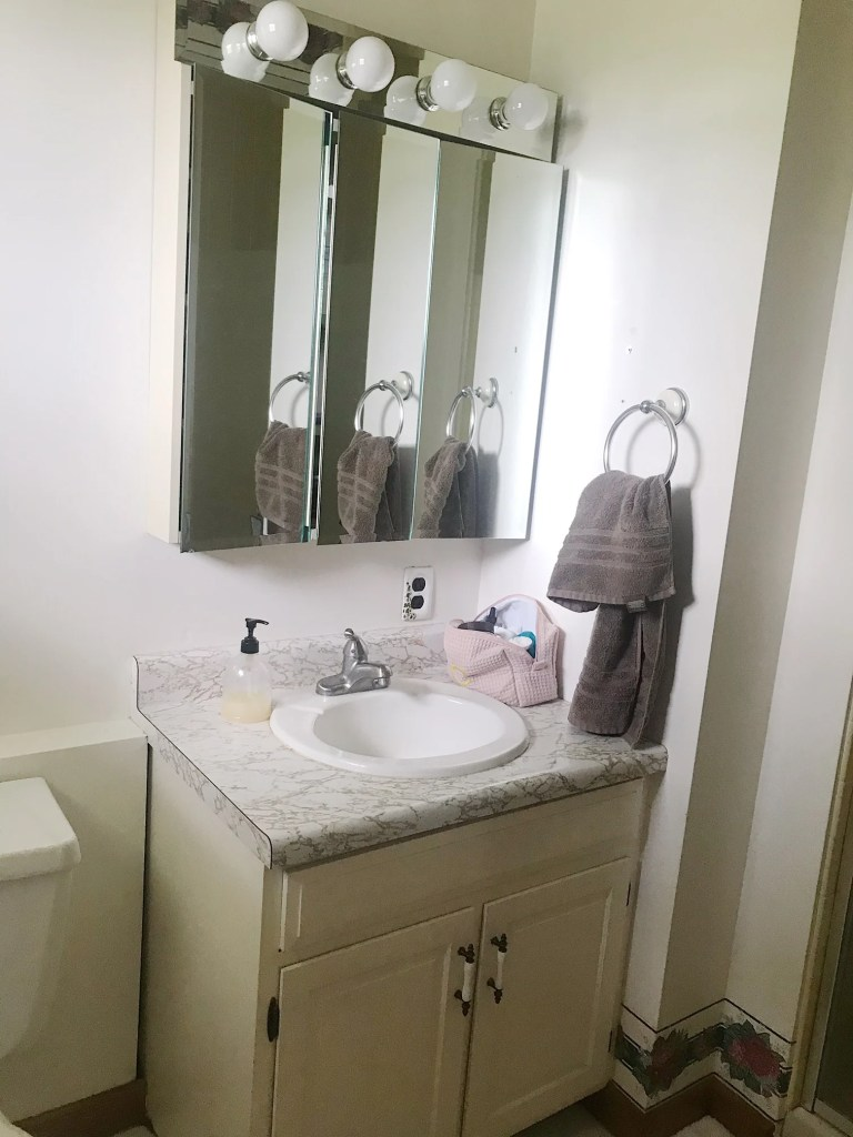 master bathroom makeover before