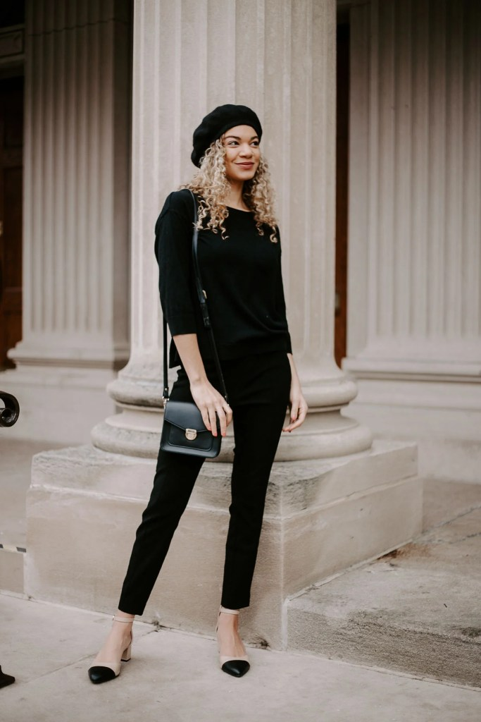 beret outfit classic outfit
