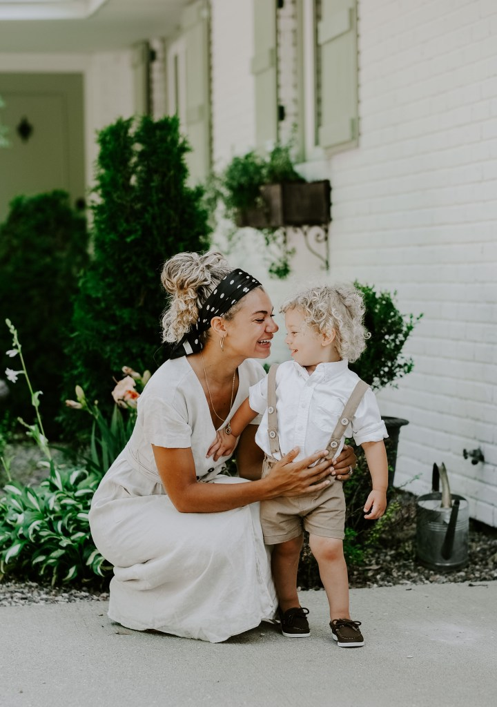 mother and son summer outfit