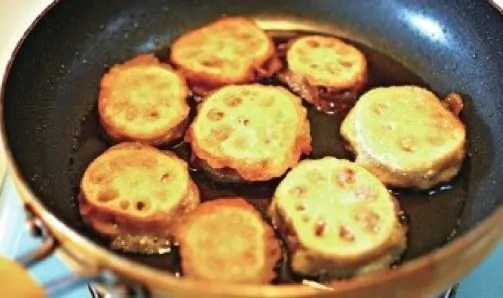 Chinese Fry Lotus Root Sandwich Recipe step4