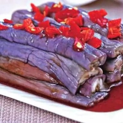 Chinese Steamed Eggplant Stripes With Pickled Chili Recipe