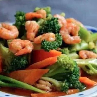 3 Step Fried Broccoli with Assorted Seafood Recipe