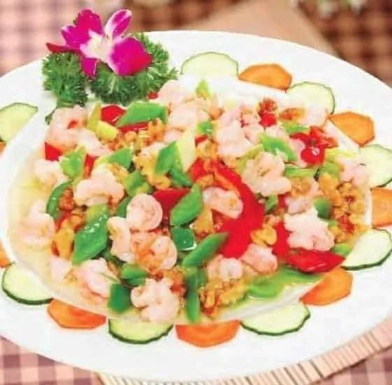 Simple Shrimp with Chilis Recipe