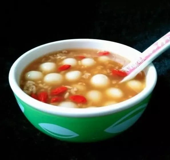 Boiled Glutinous Rice Balls With Rice Wine Recipe